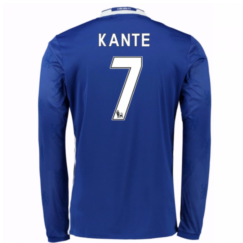 2016-17 Chelsea Home Long Sleeve Shirt (Kante 7) - Kids