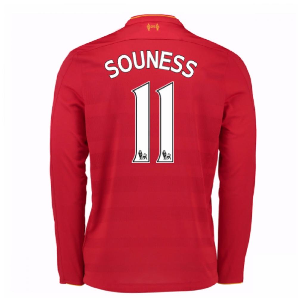 2016-17 Liverpool Home Long Sleeve Shirt (Souness 11) - Kids