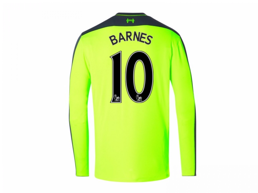 2016-17 Liverpool Third Long Sleeve Shirt (Barnes 10) - Kids