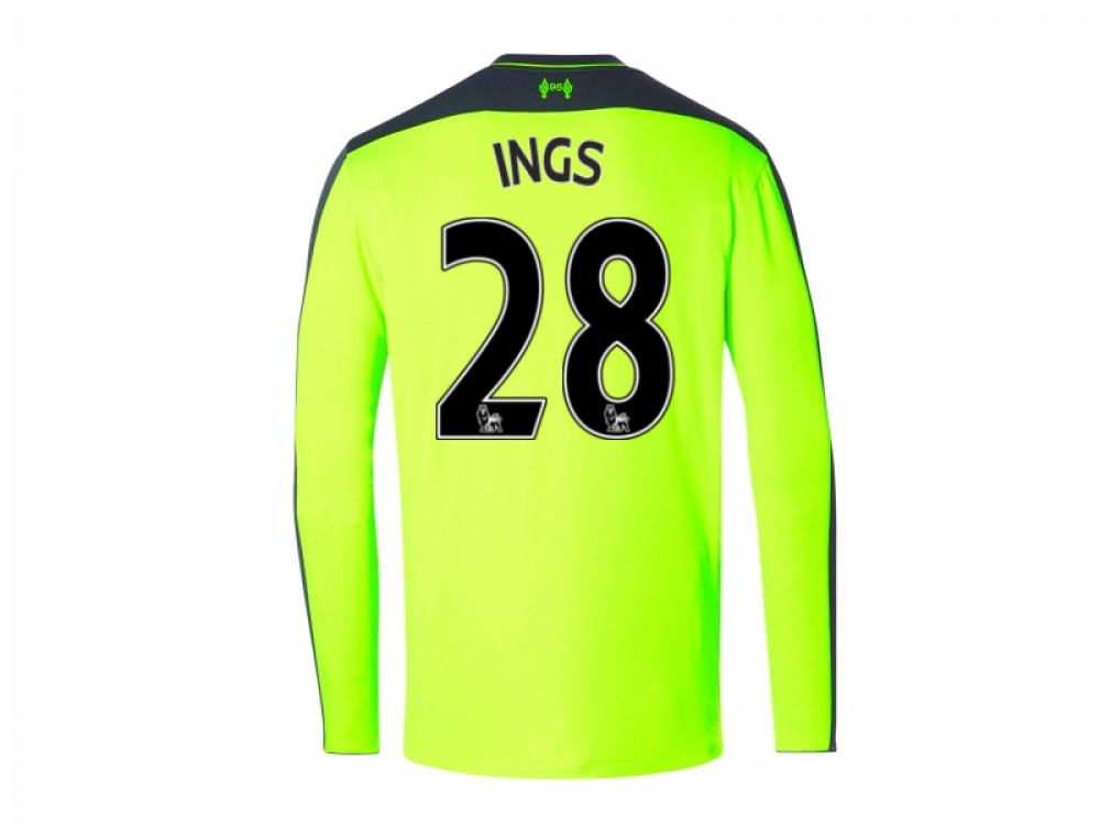 2016-17 Liverpool Third Long Sleeve Shirt (Ings 28) - Kids