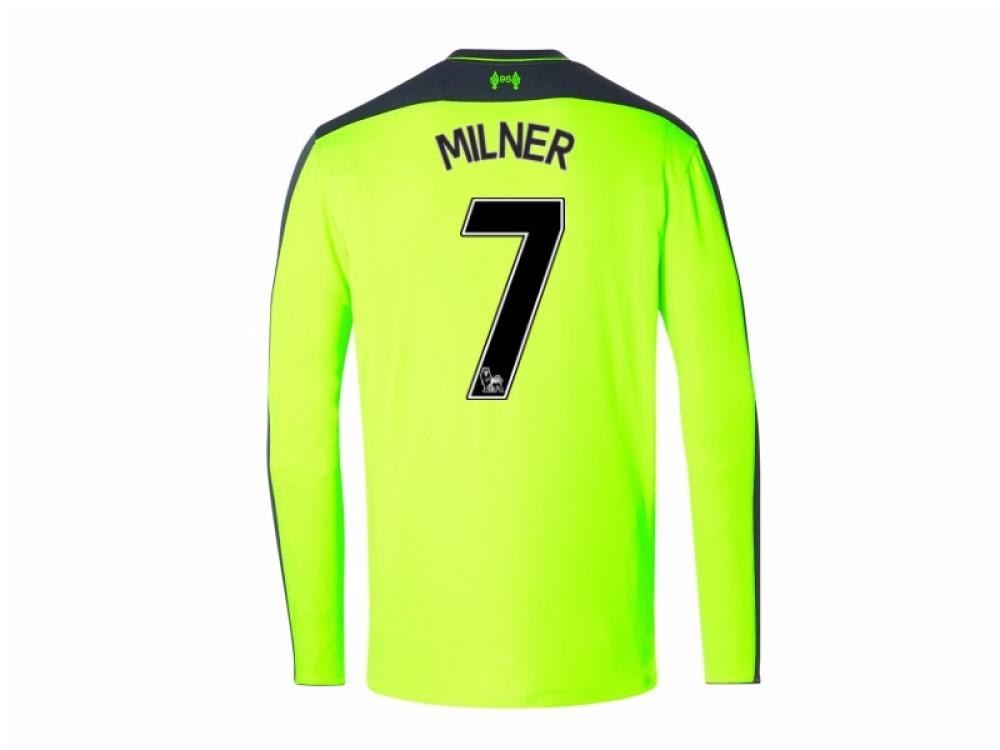 2016-17 Liverpool Third Long Sleeve Shirt (Milner 7) - Kids