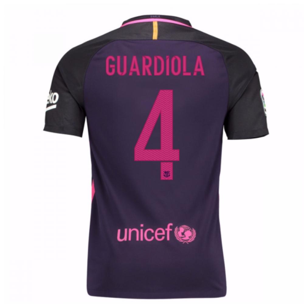 2016-17 Barcelona Away Shirt (Guardiola 4) - Kids
