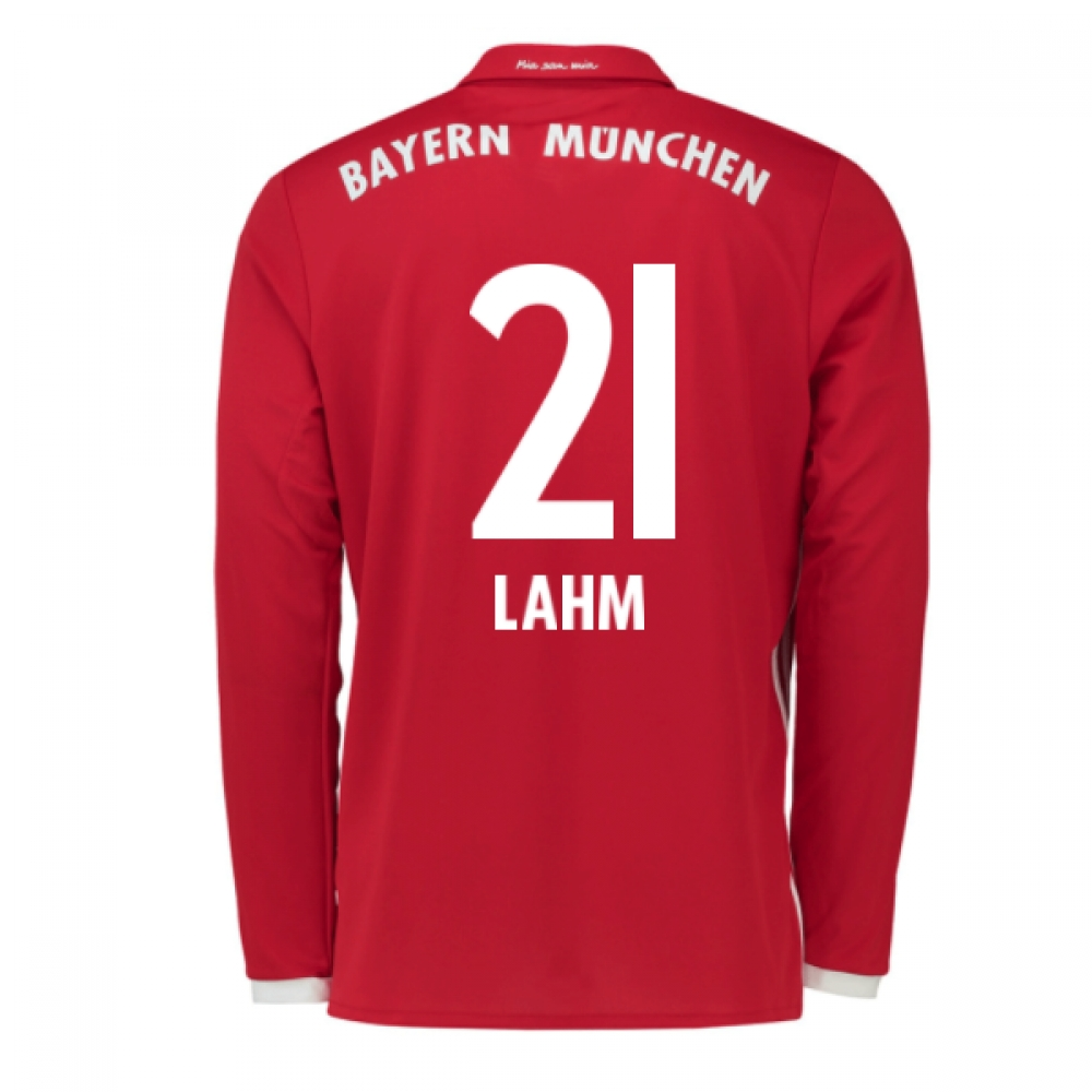 2016-17 Bayern Munich Long Sleeve Home Shirt (Lahm 21) - Kids