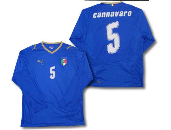 08-09 Italy L/S home (Cannavaro 5)