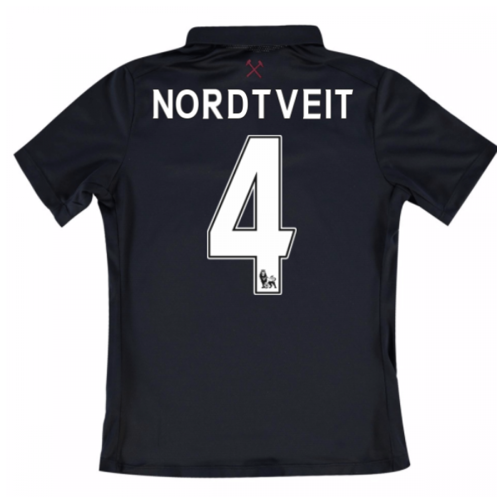 2016-17 West Ham Third Shirt (Nordtveit 4) - Kids