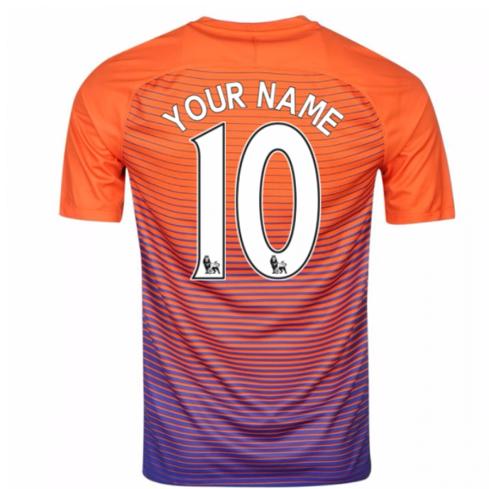 2016-17 Manchester City Third Shirt (Your Name)