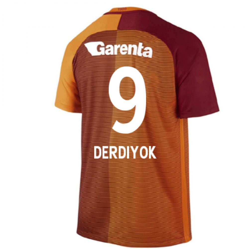 2016-17 Galatasaray Home Shirt (Derdiyok 9) - Kids
