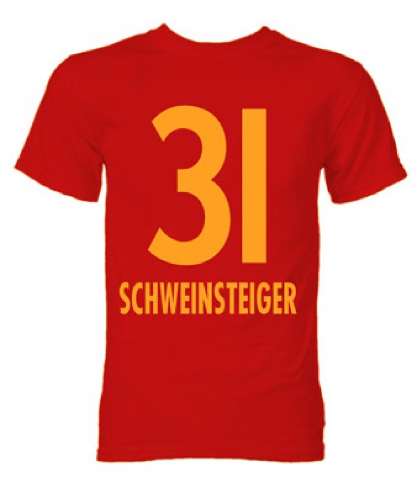 bastian schweinsteiger bayern munich hero t shirt red. Black Bedroom Furniture Sets. Home Design Ideas