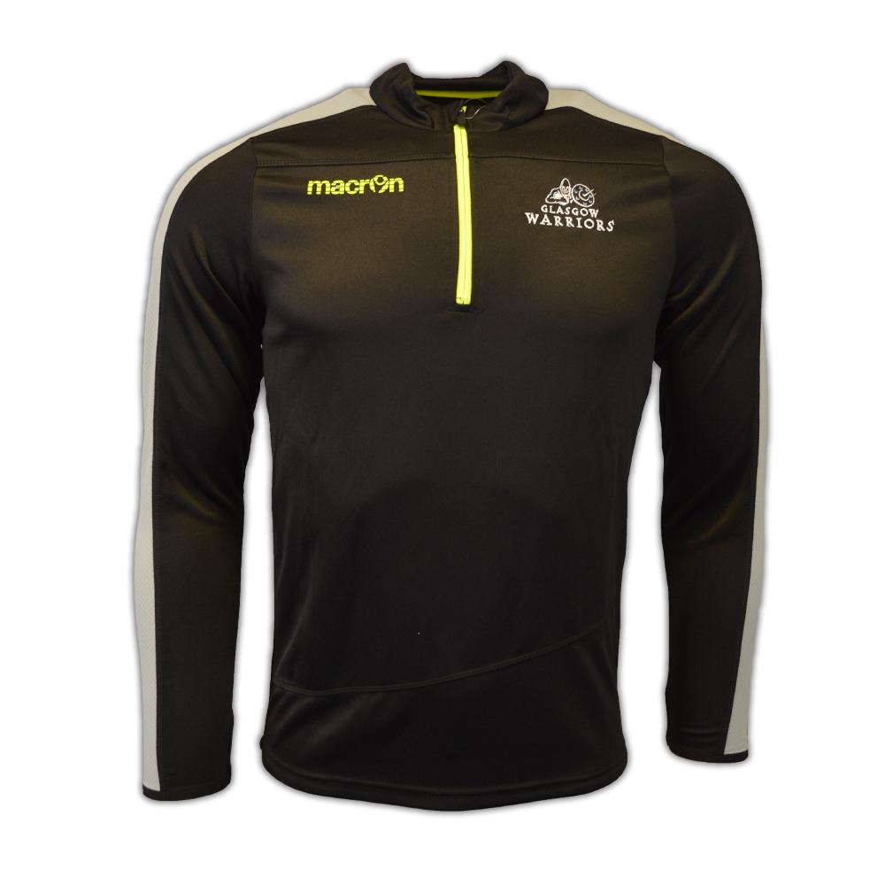 2016-2017 Glasgow Warriors Rugby Half Zip Training Sweatshirt (Black)