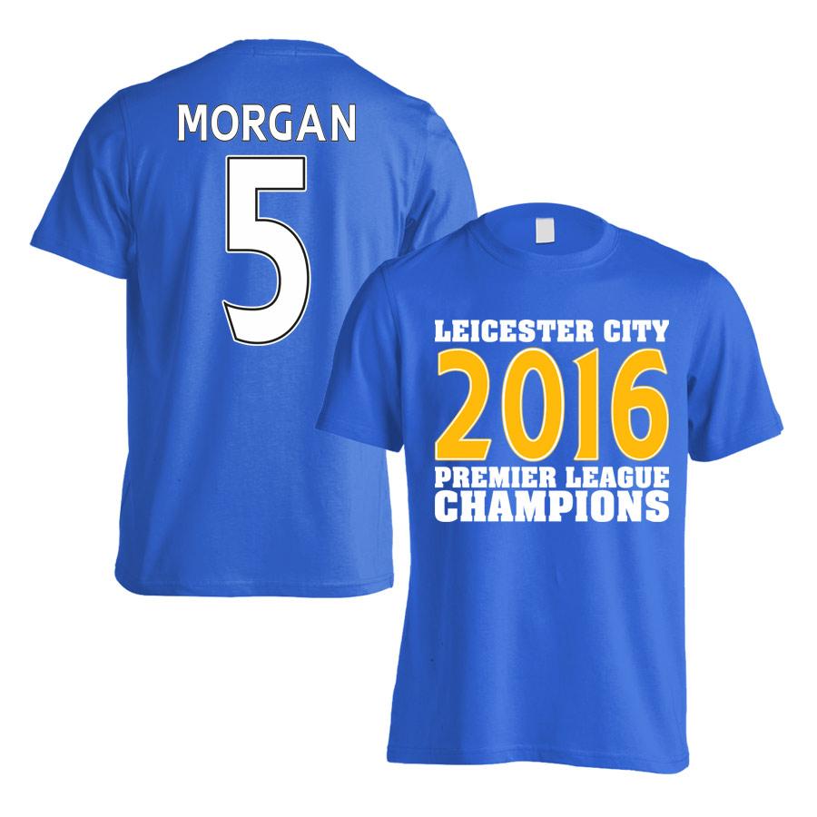 Leicester City 2016 Premier League Champions T-Shirt (Morgan 5) Blue - Kids