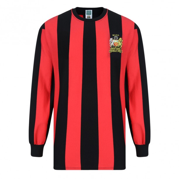 Score Draw Manchester City 1969 Home Long Sleeve Shirt