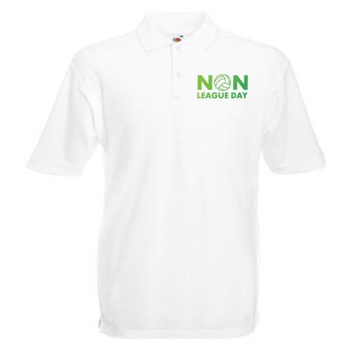 Non-League Day Logo Polo Shirt (White)