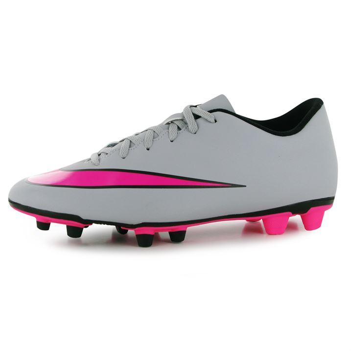 Nike Mercurial Vortex FG Mens Football Boots (Wolf Grey-Pink)