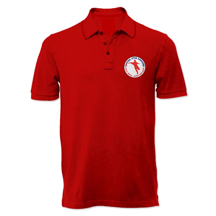 Soccer Star Coaching Dream Desire Polo Shirt (Red)