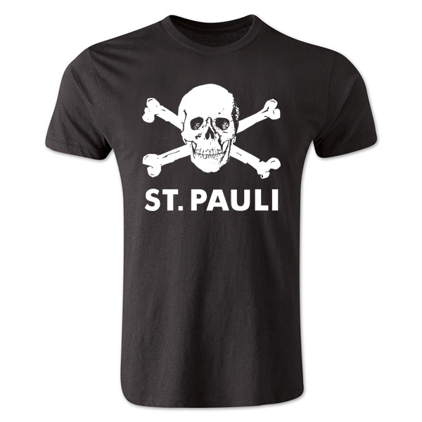 st pauli skull and crossbone t shirt black tshirtblack