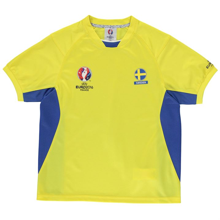 Sweden UEFA Euro 2016 Poly Training Tee (Yellow) - Kids