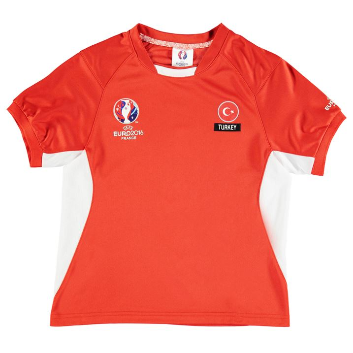 Turkey UEFA Euro 2016 Poly Training Tee (Red) - Kids