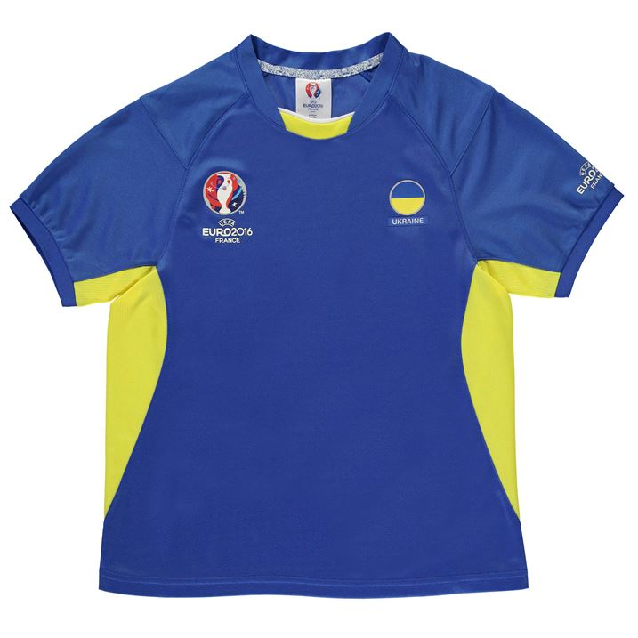 Ukraine UEFA Euro 2016 Poly Training Tee (Royal) - Kids