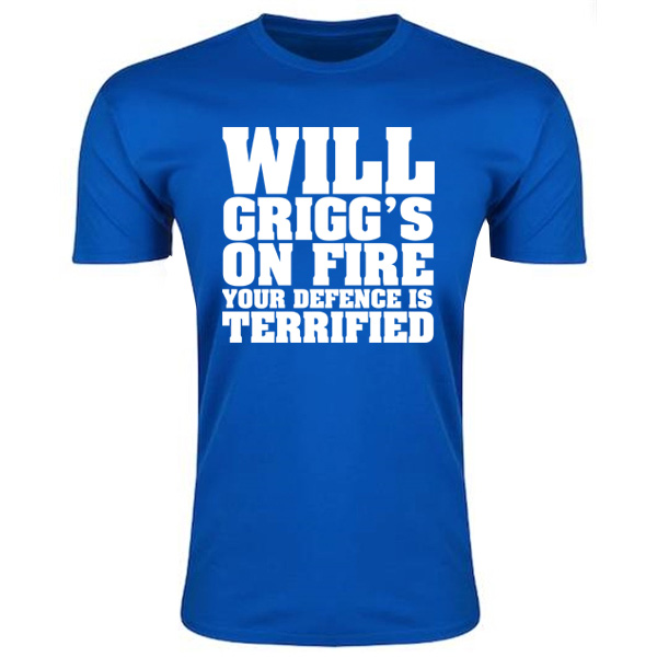 Will Griggs On Fire Your Defence Is Terrified T-Shirt (Royal Blue) - Kids