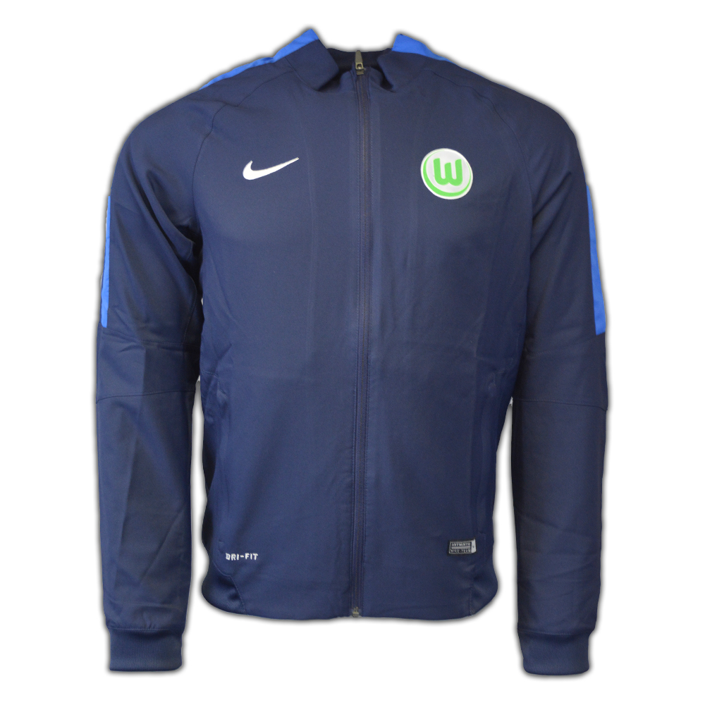 2016-2017 VFL Wolfsburg Nike Presentation Jacket (Navy)