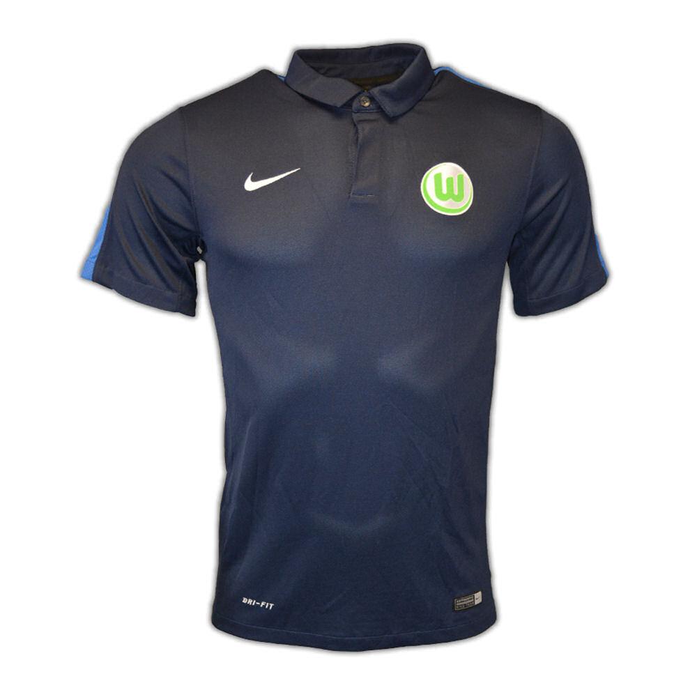 2016-2017 VFL Wolfsburg Nike Authentic League Polo Shirt (Navy)