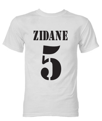 Zinedine Zidane Real Madrid Galactico T-Shirt (White)