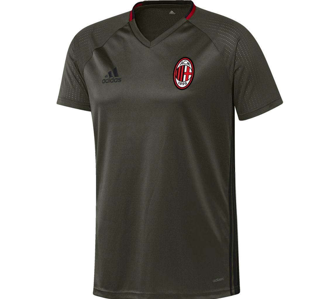 2016-2017 AC Milan Adidas Training Jersey (Night Cargo) - Kids