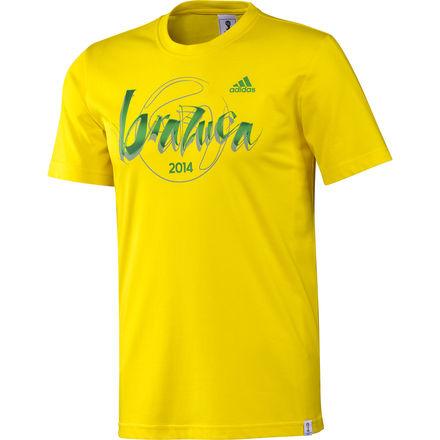 2014 Adidas World Cup Brazuca T-Shirt (Yellow)