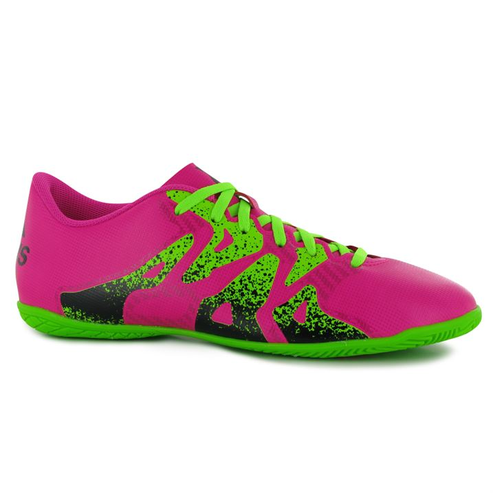 adidas X 15.4 Mens Indoor Football Trainers (Shock Pink)