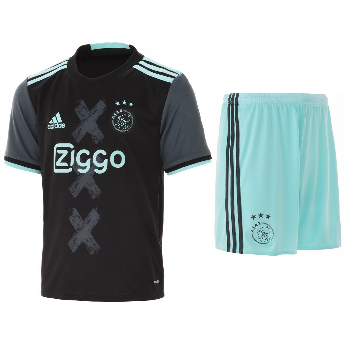 2016-2017 Ajax Adidas Away Mini Kit
