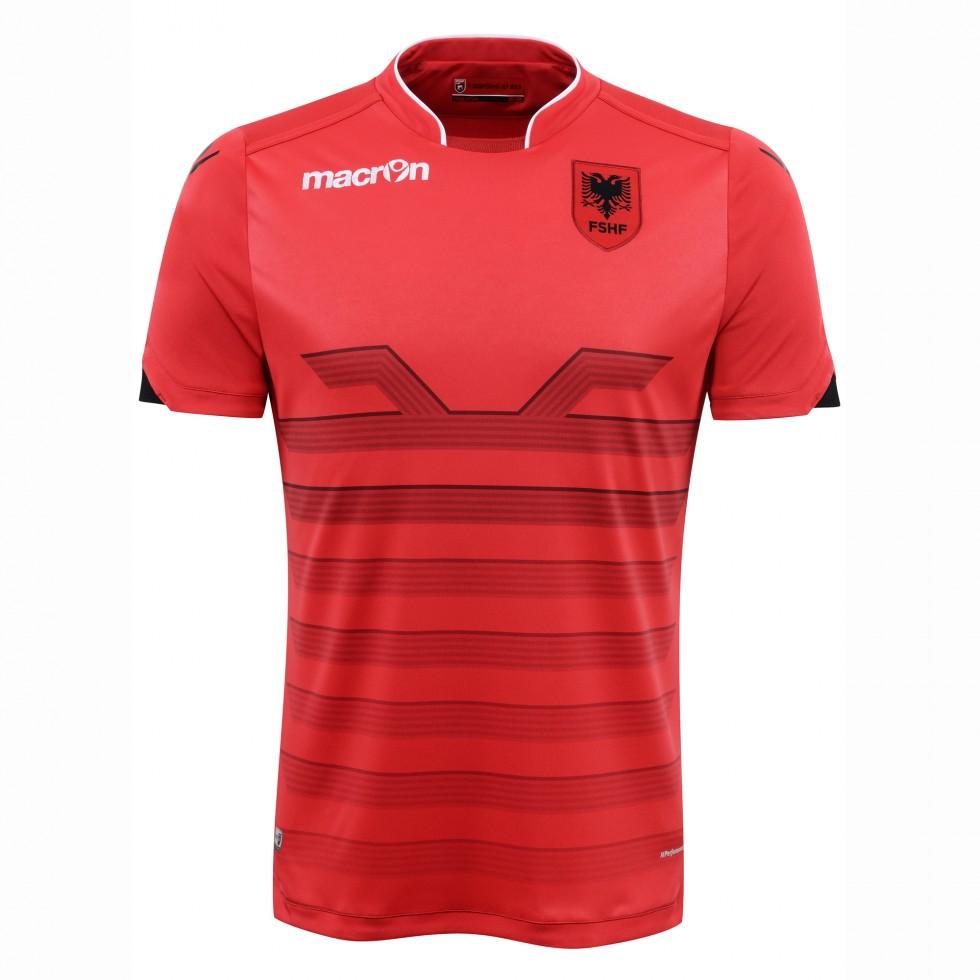 2016-2017 Albania Home Macron Football Shirt