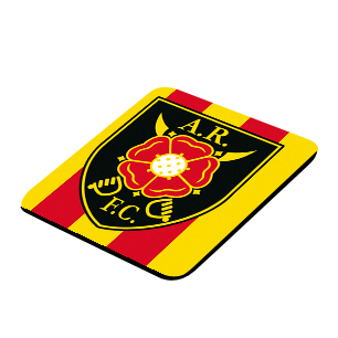 Albion Rovers Official Coaster (Red-Yellow)