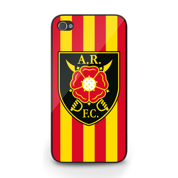 Albion Rovers Official iPhone 4 Cover (Red-Yellow)