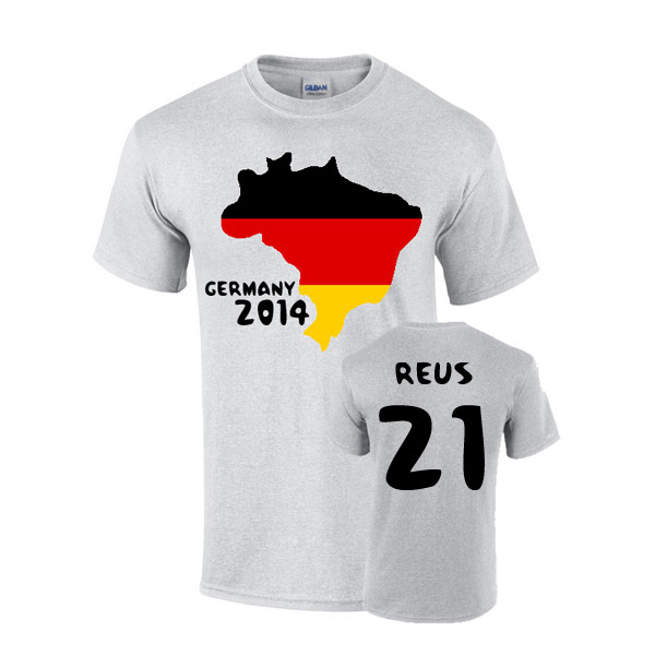 Germany 2014 Country Flag T-shirt (reus 21)