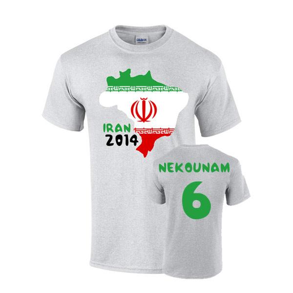 Iran 2014 Country Flag T-shirt (nekounam 6)