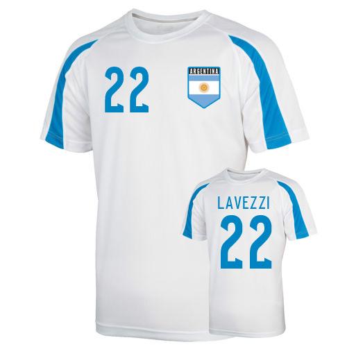 Argentina Sports Training Jersey (lavezzi 22)