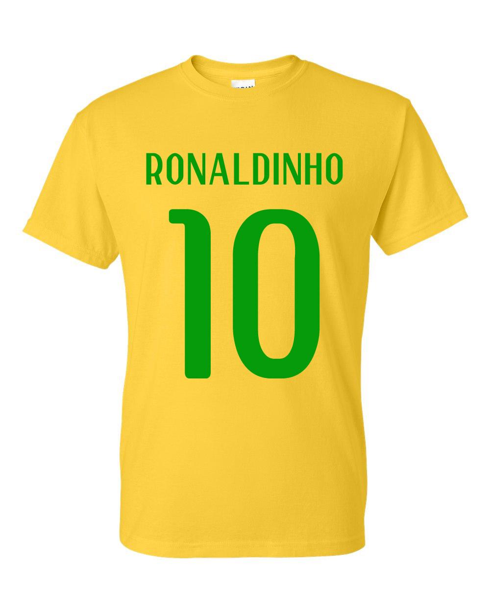 Ronaldinho Brazil Hero T Shirt Yellow Tshirtyellow