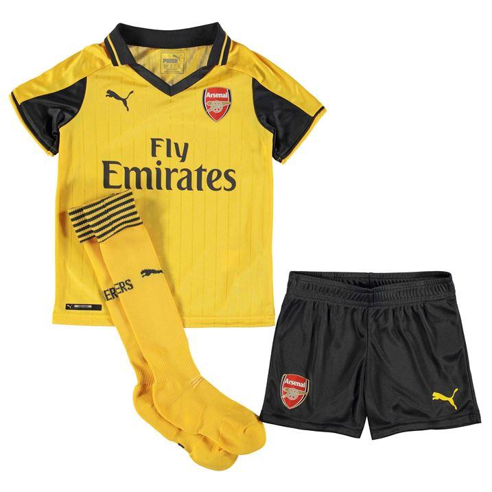 2016-2017 Arsenal Away Little Boys Mini Kit