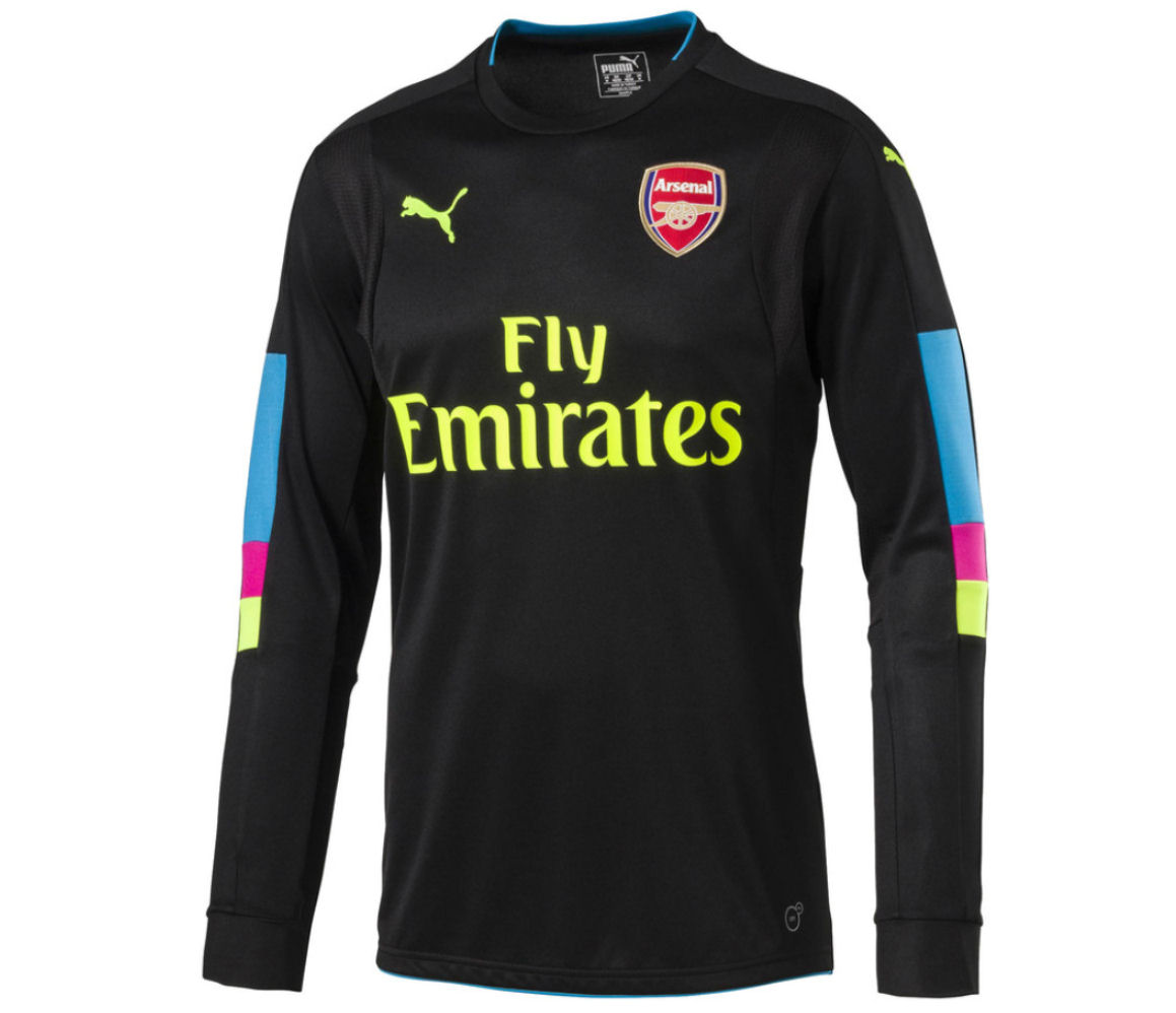 2016-2017 Arsenal Puma Home LS Goalkeeper Shirt (Black) - Kids