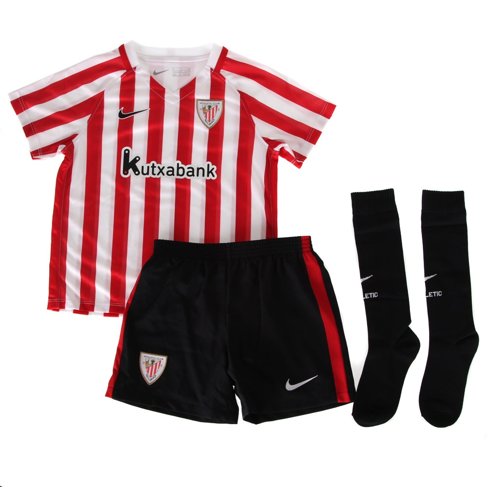 2016-2017 Athletic Bilbao Home Nike Little Boys Mini Kit