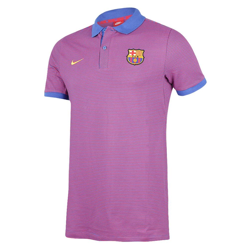 2016-2017 Barcelona Nike Authentic Polo Shirt (Game Royal)