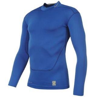 Nike Pro Combat Core Mock Baselayer (blue)