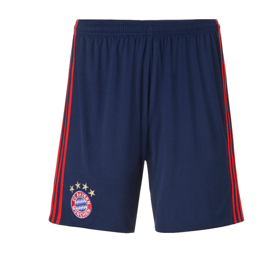 2016-2017 Bayern Munich Adidas Home Goalkeeper Shorts (Night Indigo) - Kids