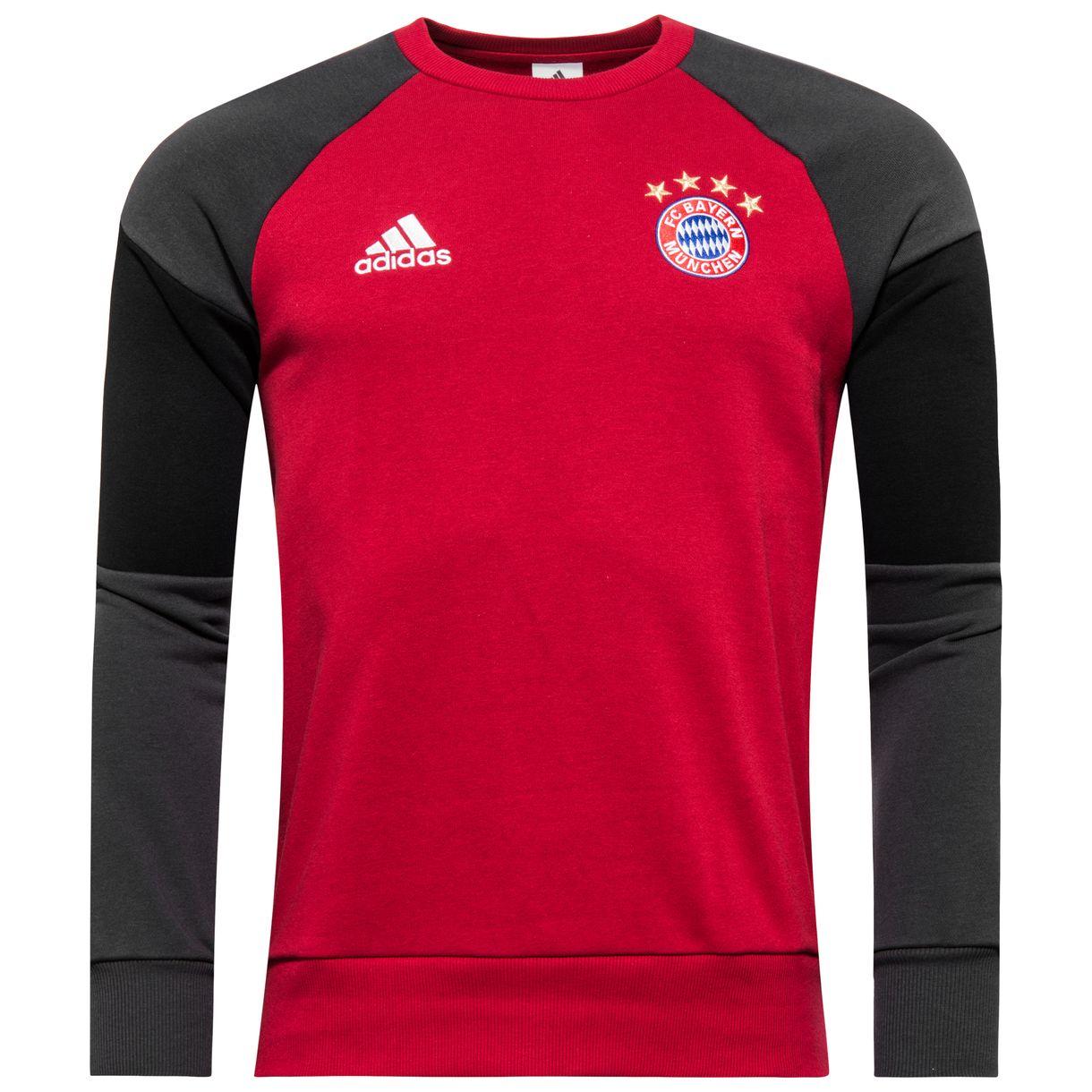 2016-2017 Bayern Munich Adidas Sweat Top (Red)