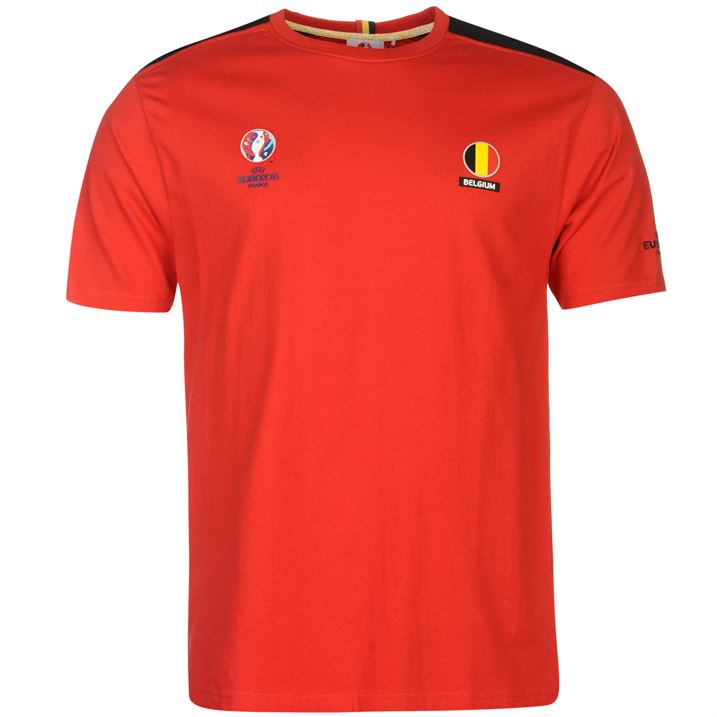 Belgium UEFA Euro 2016 Core T-Shirt (Red)