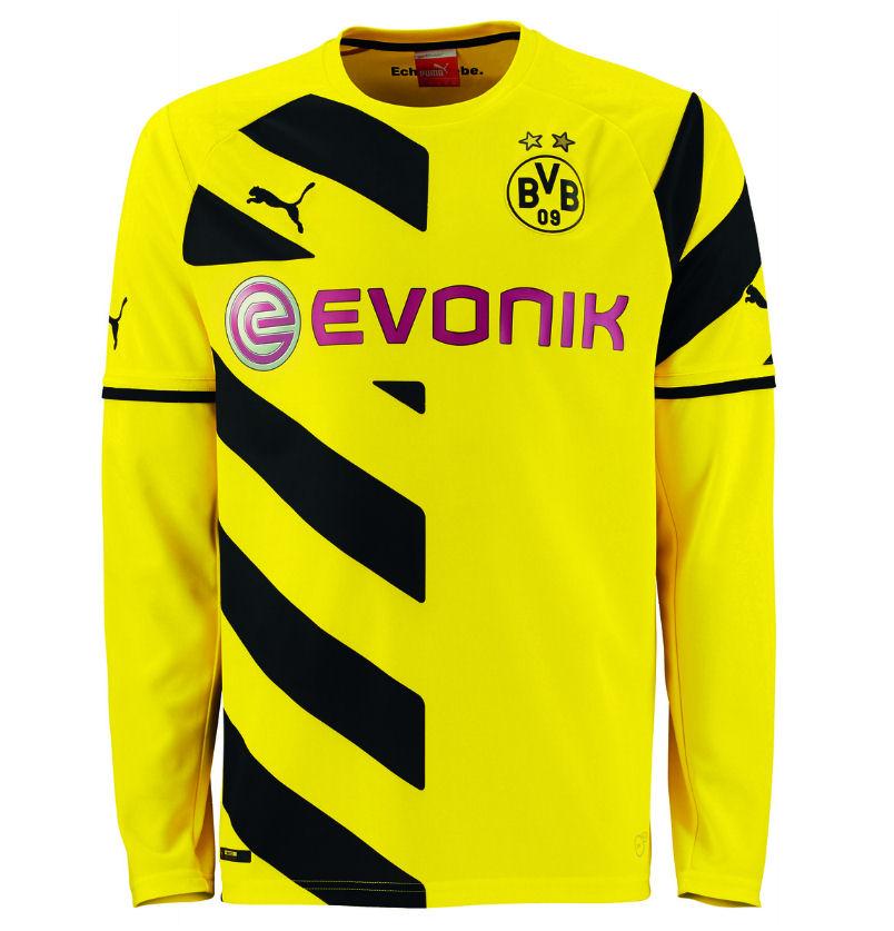 2014-2015 Borussia Dortmund Home Long Sleeve Puma Shirt