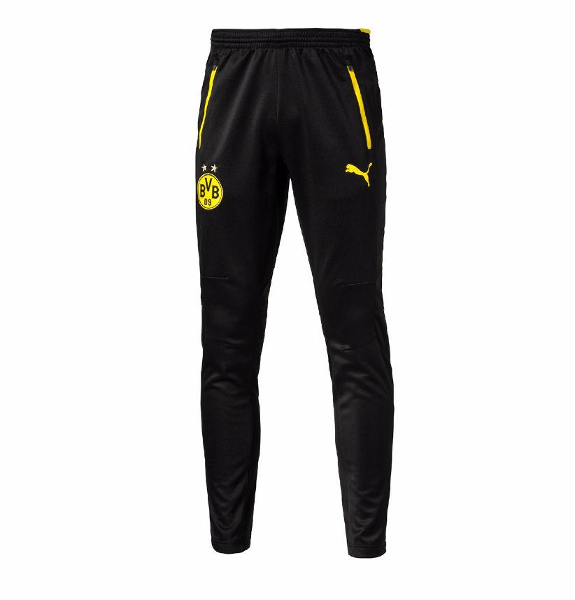 2016-2017 Borussia Dortmund Puma Training Pants with Pockets (Black)