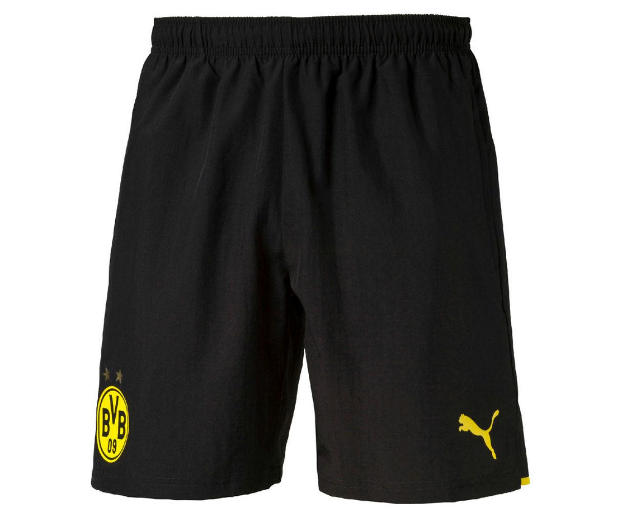 2016-2017 Borussia Dortmund Puma Woven Shorts (Black)