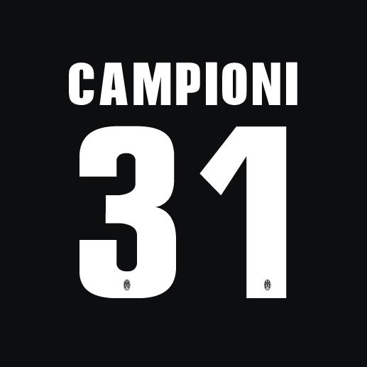 2013-14 Camponi 31 Juventus Home Shirt Printing