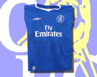 Chelsea Multi-Signed shirt 04/05